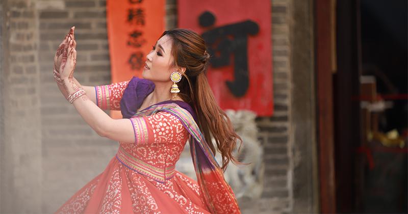 VR video shooting - Bollywood mass dance (Kwong Fuk Bridge)